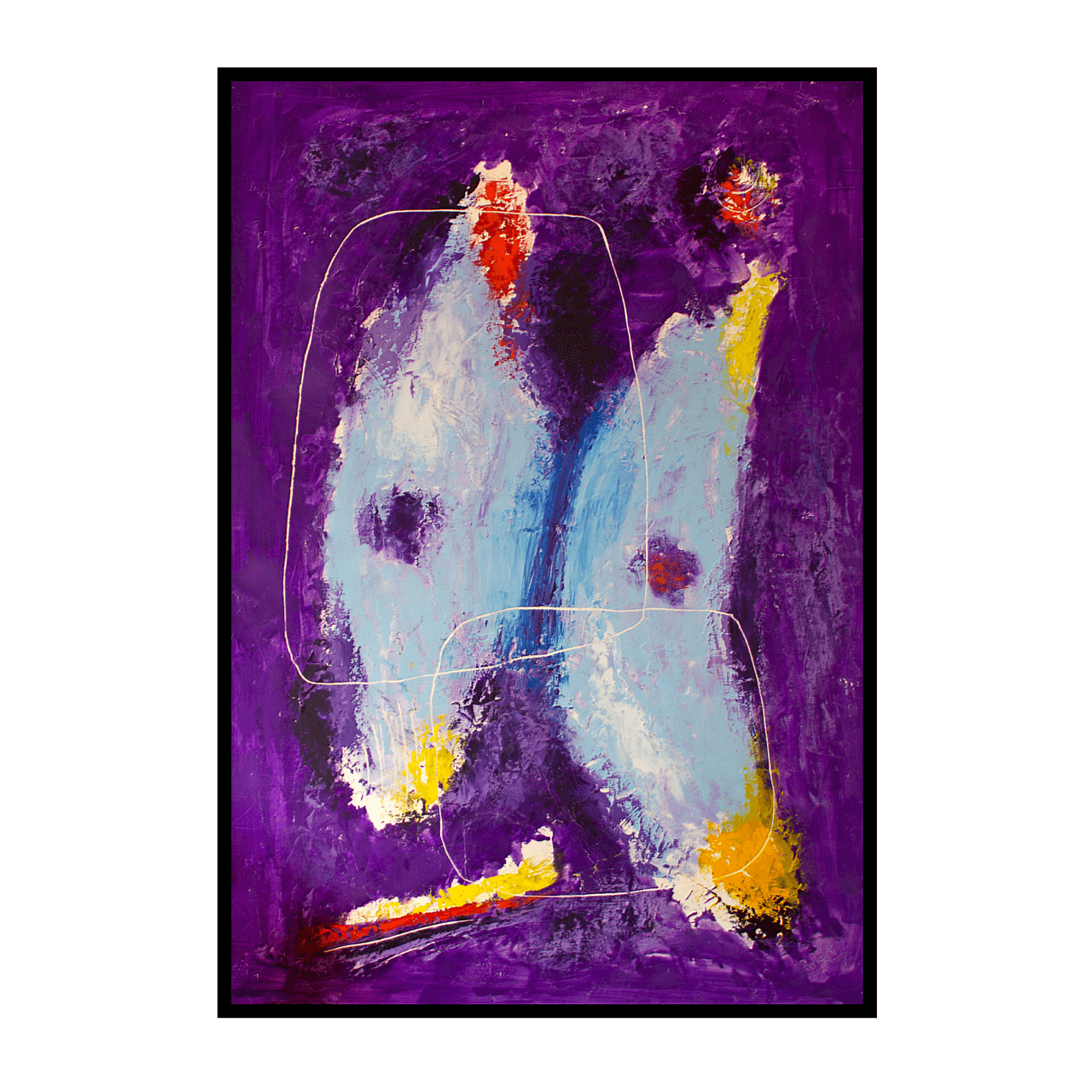 quadro dipinto olio Mario Pavesi pittura artista reggiano catene farfalle