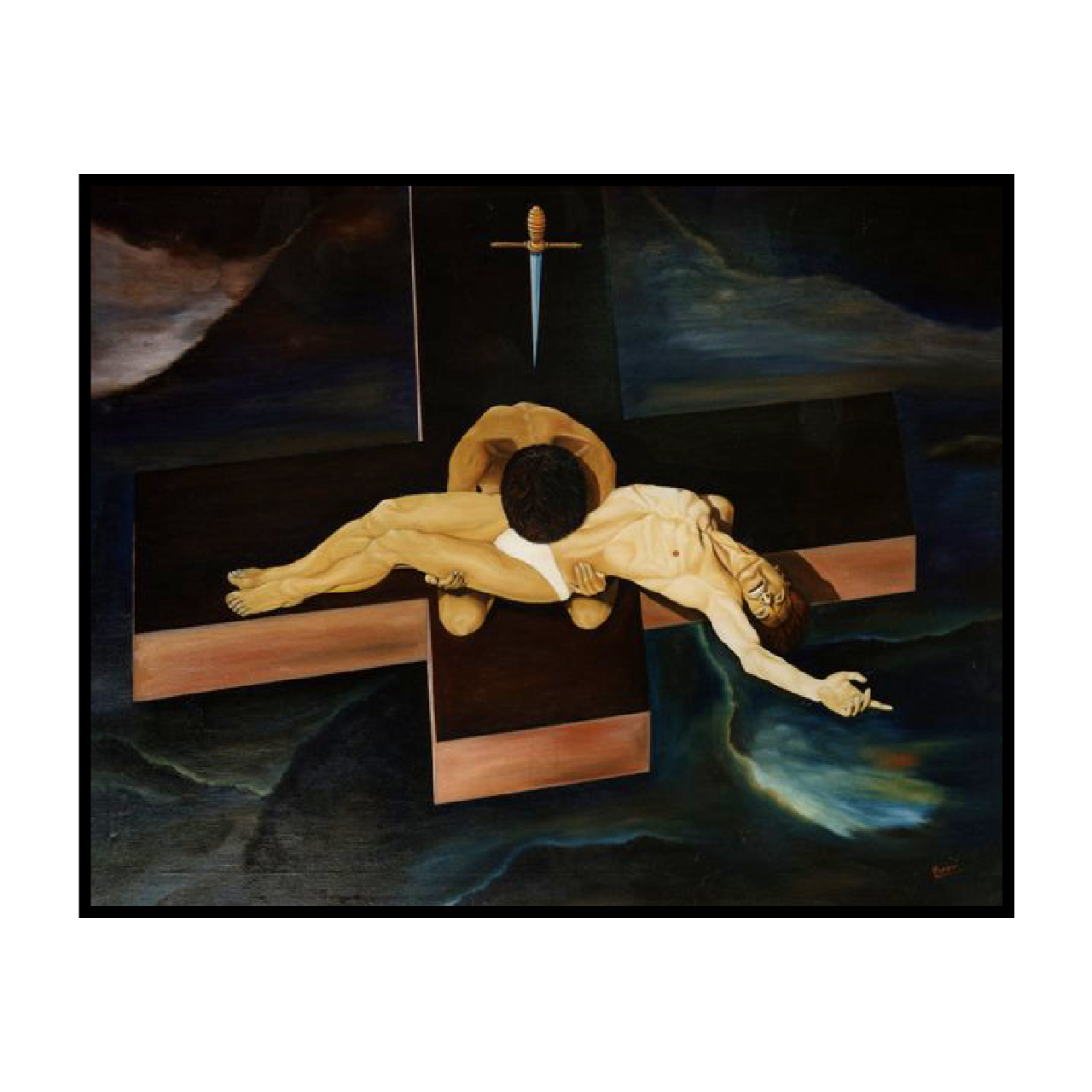 mario pavesi italian sculptur painter christ