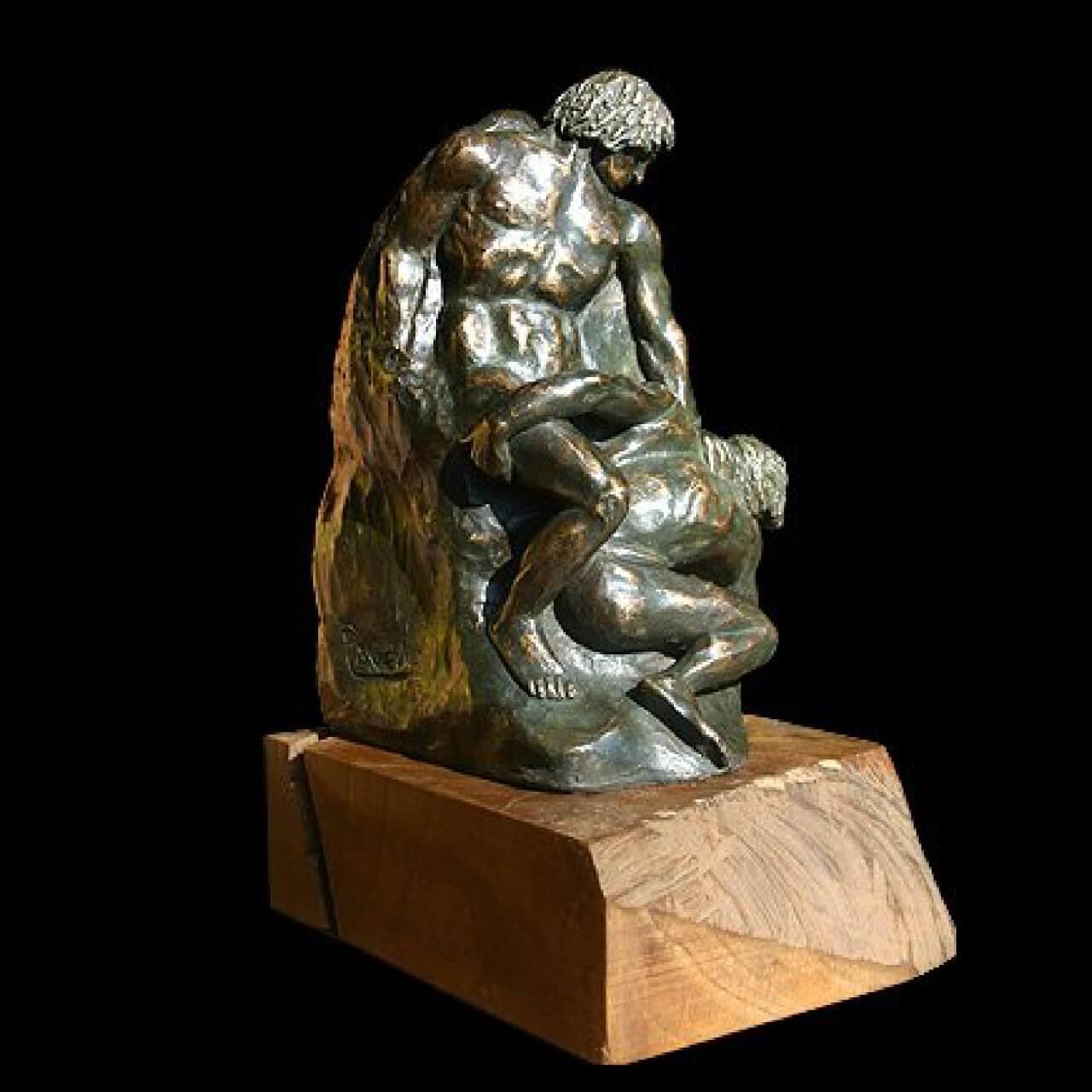 mario pavesi italian sculptur painter bronze male figure