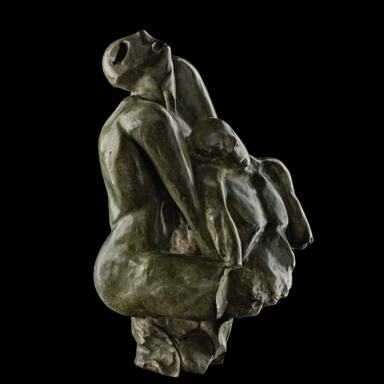 mario pavesi italian sculptur painter bronze female figure maternity