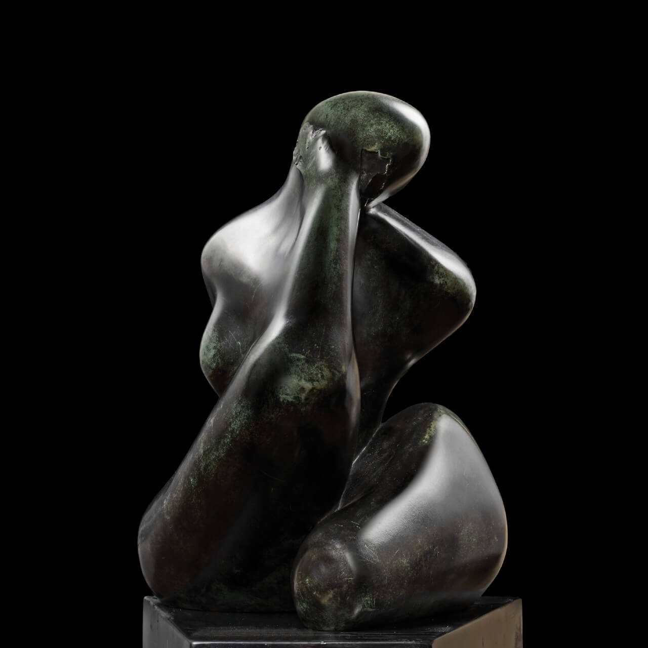 mario pavesi italian sculptur painter bronze female figure