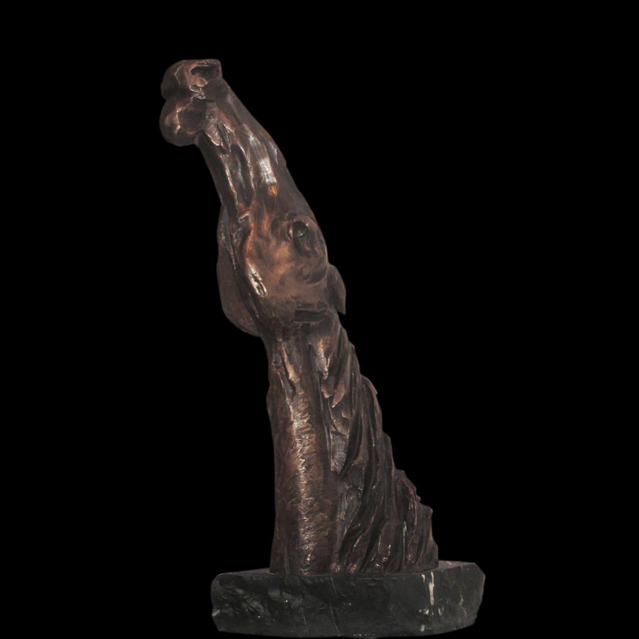 mario pavesi italian sculptur painter bronze horse head big