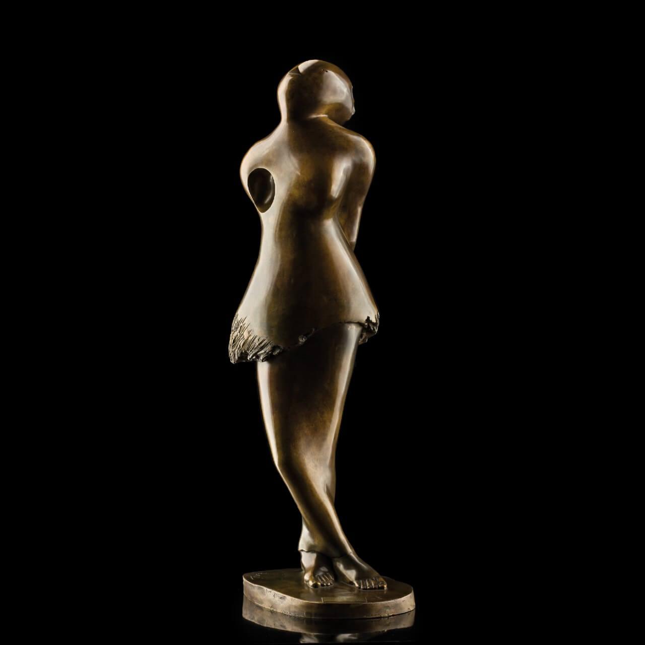 mario pavesi italian sculptur painter bronze female figure dancer