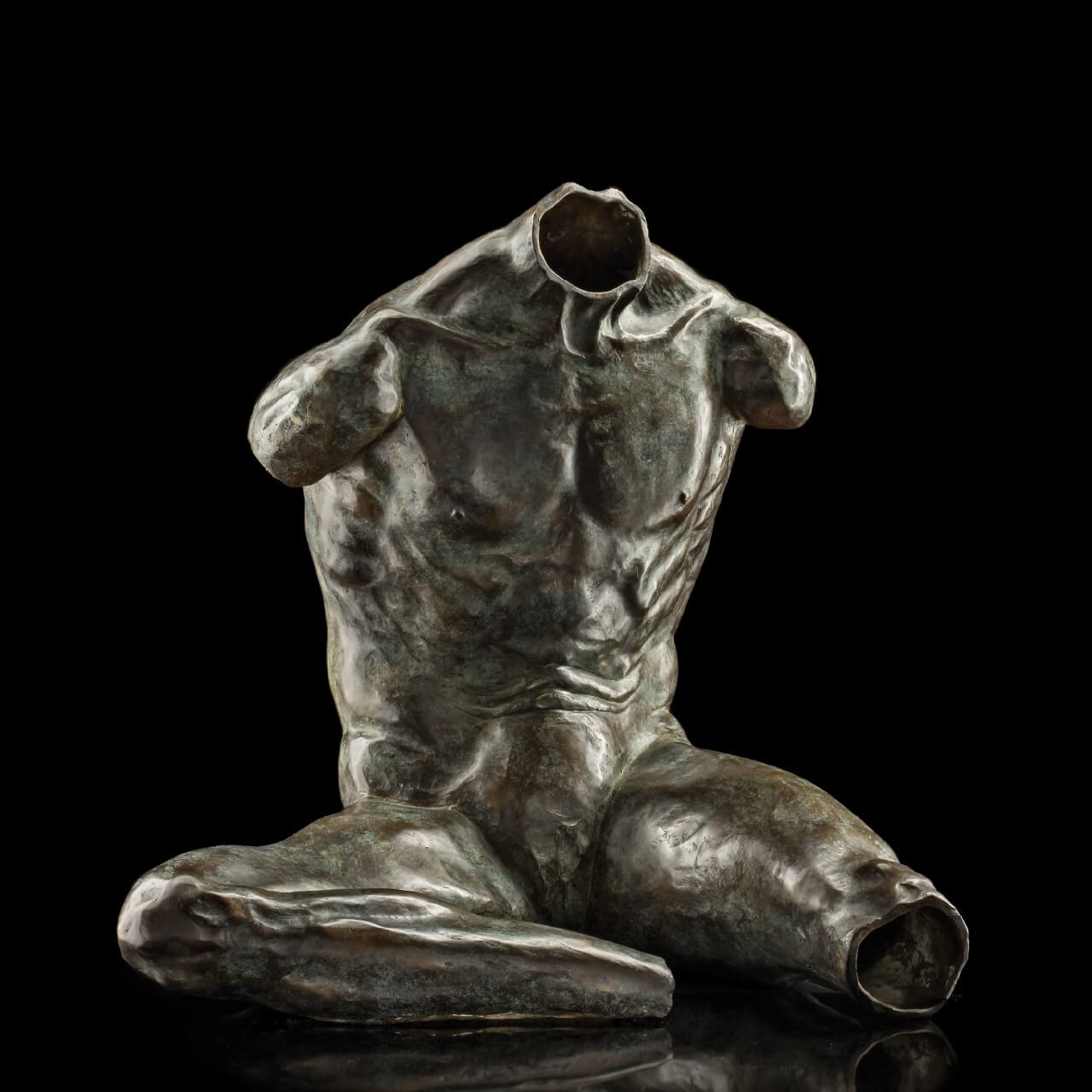 mario pavesi italian sculptur painter bronze male figure belvedere torso