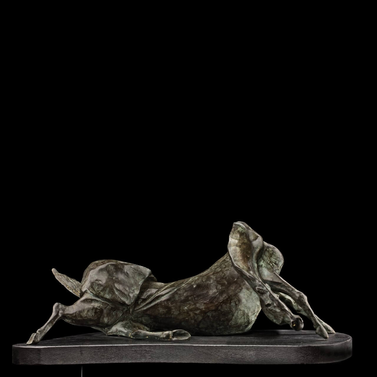 mario pavesi italian sculptur painter bronze horse
