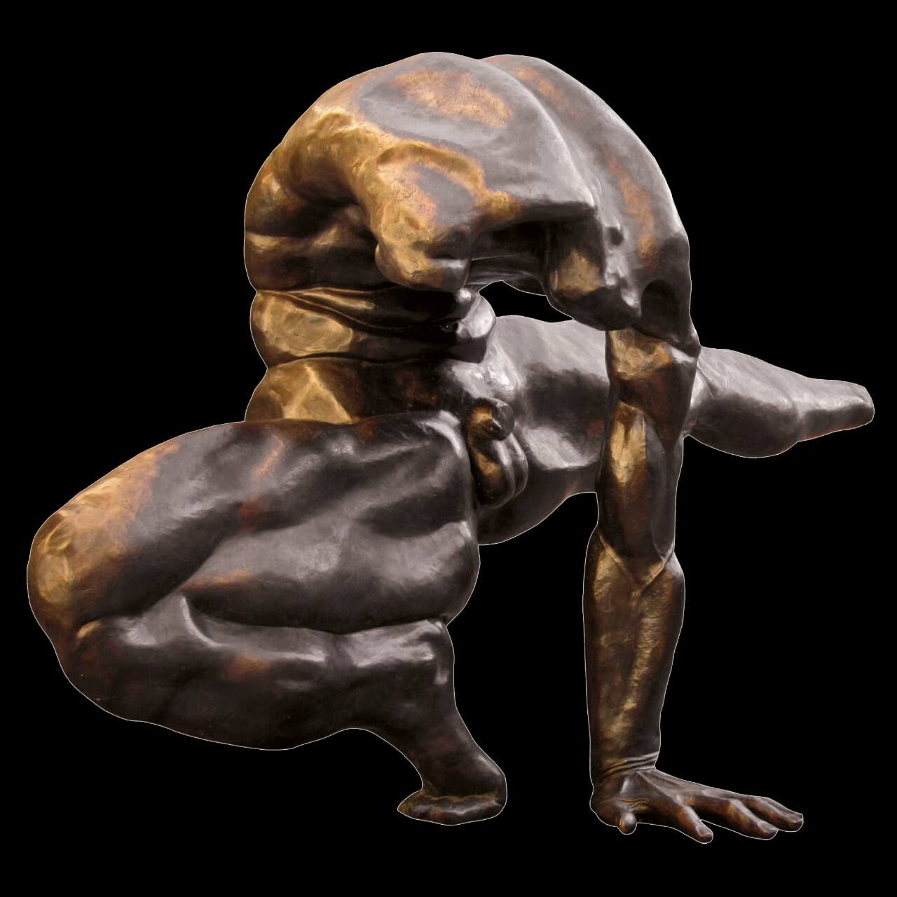 scultura bronzo Mario Pavesi artista reggiano arte corpo maschile ginnasta piazza Casotti grandi dimensioni