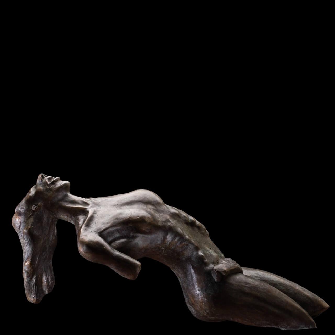mario pavesi italian sculptur painter bronze female naked figure orgasm
