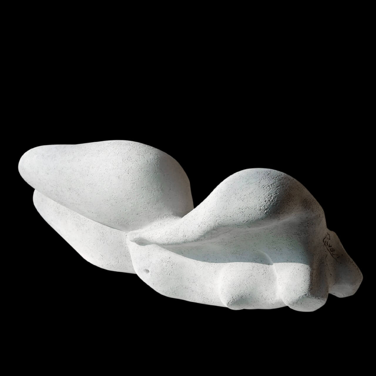 mario pavesi italian sculptur painter white gres naked woman