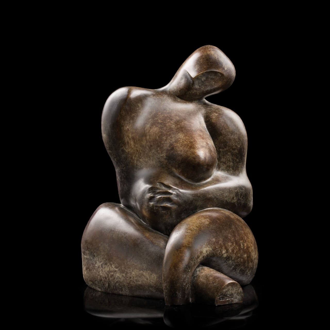 mario pavesi italian sculptur painter bronze female body