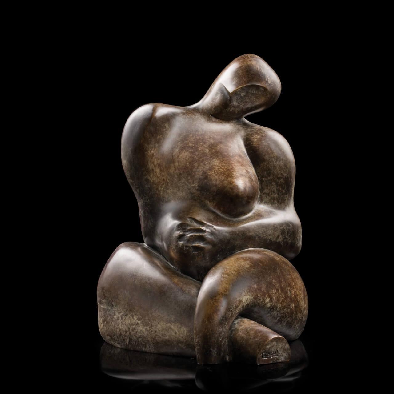 mario pavesi italian sculptur painter bronze female body