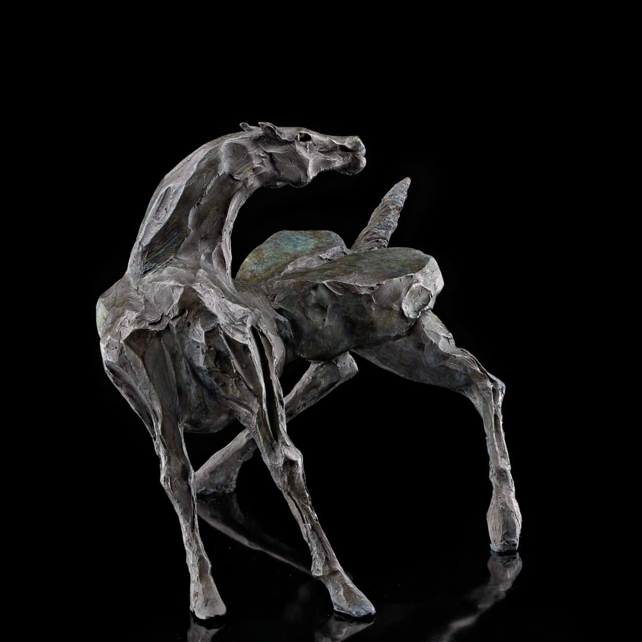 scultura bronzo Mario Pavesi artista reggiano arte cavallo animali