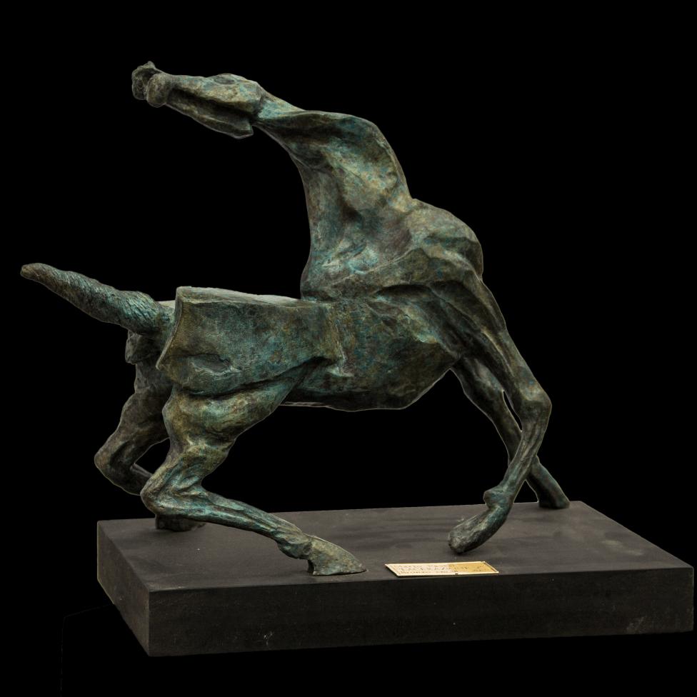 mario pavesi italian sculptur painter horse