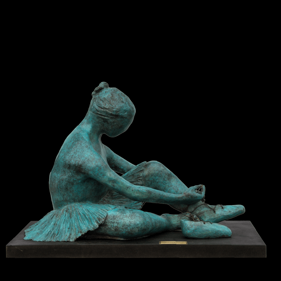 mario pavesi sculptur painter female bronze dancer